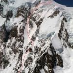 Descenso en Tabla del grand colouir, Centinela Rojo al Mont Blanc.