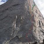 Nueva Ruta Alpina 5.14 en Mt. Hooker, Wyoming