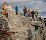 Reunion de Highline Monte Piana.Dolomitas.