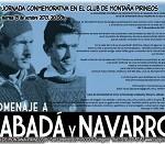 Homenaje a Rabadá y Navarro en la provincia de Zaragoza