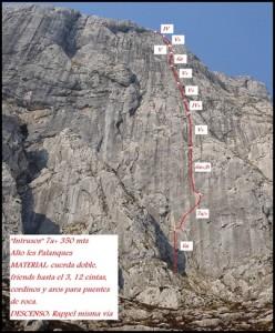 Croquis Alto Les Palanques - Intrusos 350m MD+ 7a+ (6b A0 Oblig) (Victor Sanchez)_thumb[2]